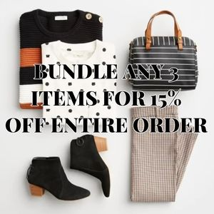BUNDLE AND SAVE YALL 3 PLUS ITEMS SAVES 15%